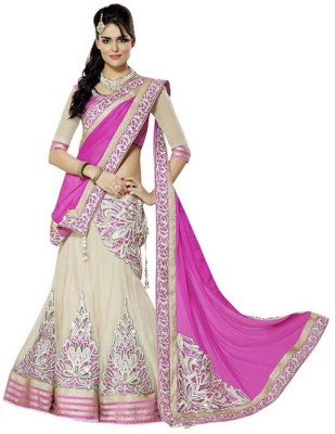 Yug Georgette Embroidered Semi-stitched Lehenga Choli Material