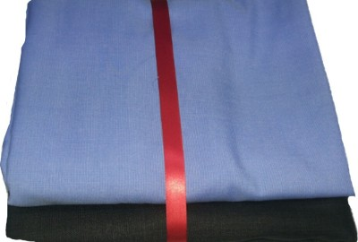 Fashion Foreplus Cotton Polyester Blend Solid Shirt & Trouser Fabric