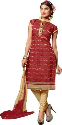 Ganga Fashion Chanderi, Cotton Embroidered Salwar Suit Dupatta Material