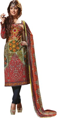 Prachi Silk Mills Cotton Printed Salwar Suit Dupatta Material