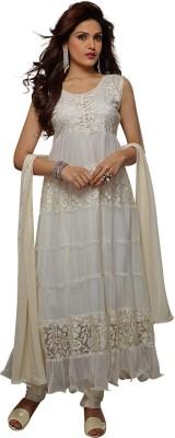 Shah Fabrics Brasso, Net Embellished Salwar Suit Dupatta Material