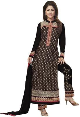 We Desi Silk Embroidered Semi-stitched Salwar Suit Dupatta Material