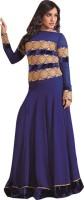 Shoponbit Georgette Printed Semi-stitched Salwar Suit Material
