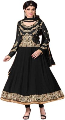 Limemode Georgette Embroidered Semi-stitched Salwar Suit Dupatta Material