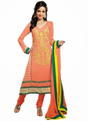Tech Georgette Embroidered Salwar Suit Dupatta Material
