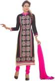 Inddus Chanderi Embroidered Salwar Suit ...