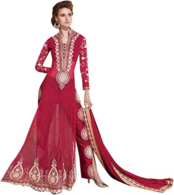 Khantil Net Embroidered Salwar Suit Dupatta Material