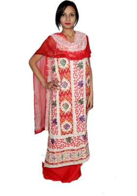 Estelo Cotton Polyester Blend Embroidered, Printed Salwar Suit Dupatta Material