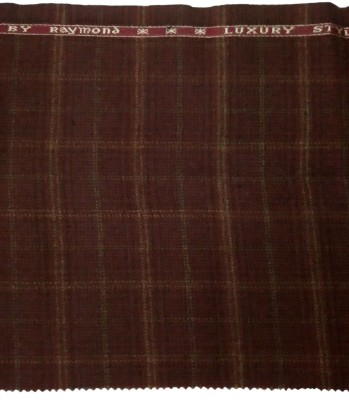 Raymond Home Wool Checkered Jacket Fabric