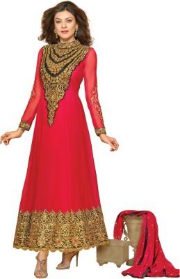 Prafful Georgette Floral Print Semi-stitched Salwar Suit Dupatta Material (Unstitched)