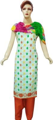 Shribalaji Cotton Embroidered Salwar Suit Dupatta Material