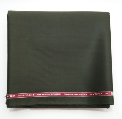 Vimal Cotton Polyester Blend Solid Trouser Fabric(Un-stitched)