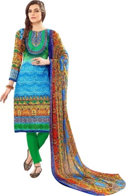 Family Shop Cotton Printed, Graphic Print Salwar Suit Dupatta Material