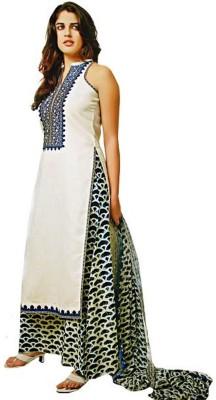 Mansi Fabrics Cotton Printed Salwar Suit Dupatta Material