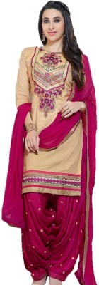 Style Vista Cotton Embroidered Semi-stitched Salwar Suit Dupatta Material