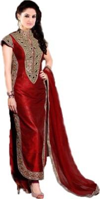 Bapa Sitaram Fashion Cotton Embroidered Semi-stitched Salwar Suit Material