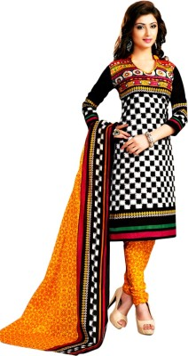 Drapes Cotton Checkered Salwar Suit Dupatta Material