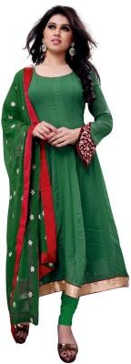 SLF Designers Georgette Self Design Semi-stitched Salwar Suit Dupatta Material