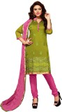 BanoRani Chanderi Self Design Salwar Sui...