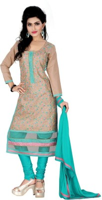 Maitri Fashion Cotton Embroidered Dress/Top Material