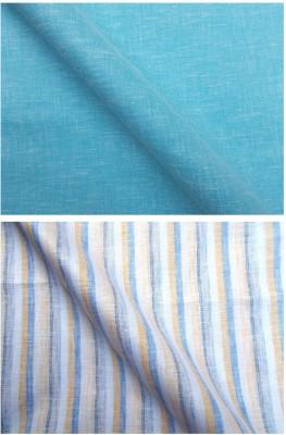 Azed Cotton Linen Blend Striped Shirt Fabric