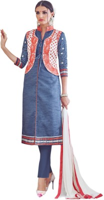 King Sales Chanderi, Silk, Cotton Embroidered Salwar Suit Dupatta Material