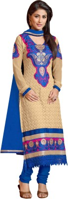 Khushali Georgette Self Design, Embroidered Dress/Top Material
