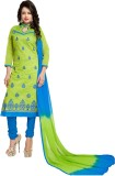 Vaidehi Fashion Chanderi Embroidered Sem...