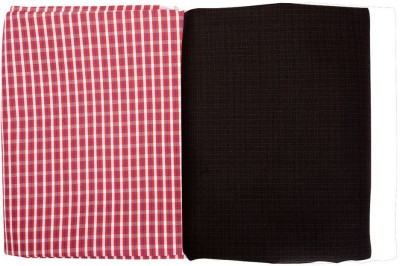 Raymond Home Cotton Polyester Blend Checkered Shirt & Trouser Fabric