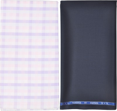 Raymond Home Cotton Polyester Blend Self Design Shirt & Trouser Fabric