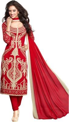 Ishin Crepe Printed Salwar Suit Dupatta Material(Un-stitched) at flipkart