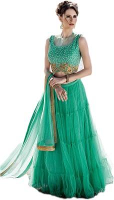 Justchic Net Embroidered Salwar Suit Dupatta Material