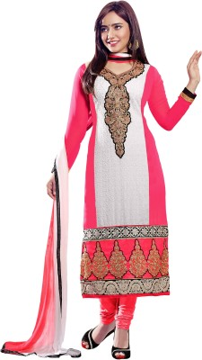 We Desi Georgette Solid Semi-stitched Salwar Suit Dupatta Material