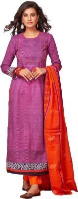 Saran Cotton Self Design Salwar Suit Dupatta Material