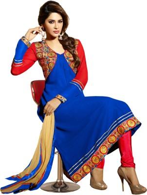 Varanga Georgette Solid, Self Design Semi-stitched Salwar Suit Dupatta Material