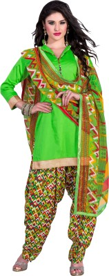Aarna's Collection Cotton Silk Blend Solid, Printed Salwar Suit Dupatta Material