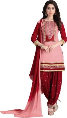 Justkartit Cotton Embroidered Salwar Suit Dupatta Material