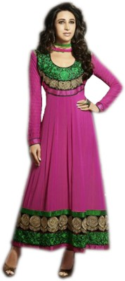 Vandv Shop Georgette Embroidered Semi-stitched Salwar Suit Dupatta Material