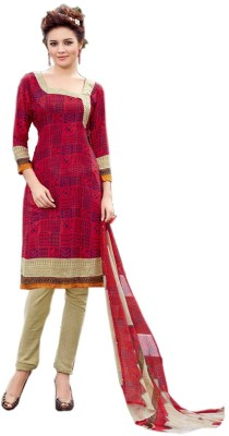 Panku Crepe Floral Print Salwar Suit Dupatta Material