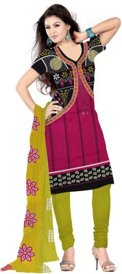 Go4Fashion Cotton Printed Salwar Suit Dupatta Material