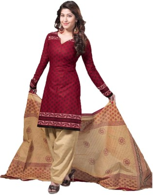 Indian Wholesale Clothing Cotton Printed Semi-stitched Salwar Suit Dupatta Material