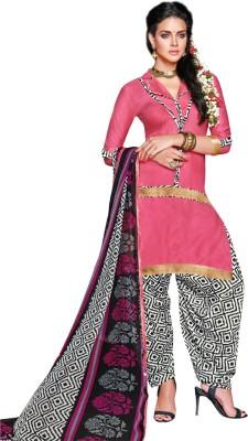 Diva Divine Cotton Printed Semi-stitched Salwar Suit Dupatta Material