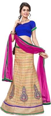 Vibes Net Embellished Lehenga Choli Material