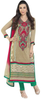 Lookslady Georgette Embroidered Semi-stitched Salwar Suit Dupatta Material
