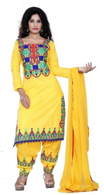 We Care Creation Cotton Embroidered Salwar Suit Material