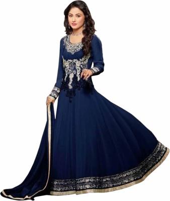 Khantil Georgette Embroidered Semi-stitched Salwar Suit Dupatta Material