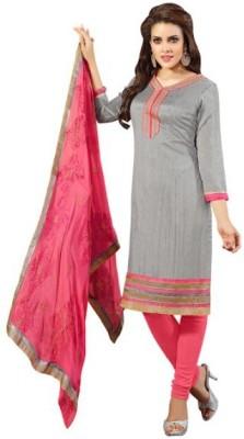 Parishi Fashion Chanderi Self Design Salwar Suit Dupatta Material