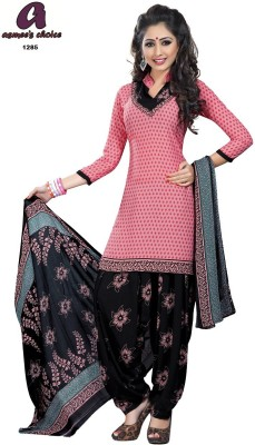 Asmee's Choice Synthetic Printed Salwar Suit Dupatta Material