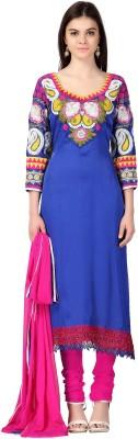 Urjita Creations Silk Embroidered Semi-stitched Salwar Suit Dupatta Material