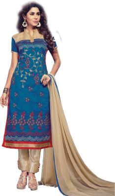 Velvetic Chanderi Embroidered Salwar Suit Dupatta Material